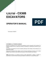 CX31B CX36B Manual de operador