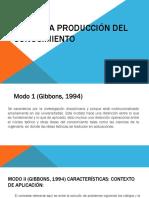 La Nueva Producción Del Conocimiento(1)