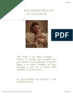 El Bautismo de Los No Nacidos