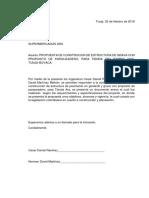 Propuesta para licitación publica