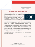 Descanso Adicional Por Exposición a Radiaciones - Vf 2019