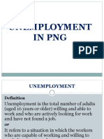Unemployment in PNG- Group 7