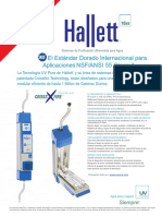 HALLET15XS Sell Sheet in Spanish