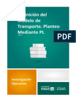 1. Definición Del Modelo de Transporte Planteo Mediante PL