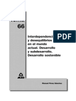 Tema 66. Interdependencias y desequilibrios en el mundo actual. Desarrollo y subdesarrollo. Desarrollo sostenible.