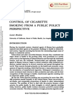 Control of Smoking from a Public Policy Perspective