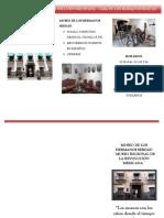 Triptico sobre el Museo de los Hermanos Serdán o Museo de la Revolución Mexicana en Puebla