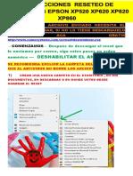 Instrucciones Reset CAMOSYSTEMS