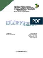 (Investigacion Educativa) Informe