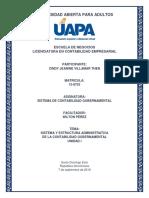 Sistema de Contabilidad Gubernamental - Tarea Unidad i