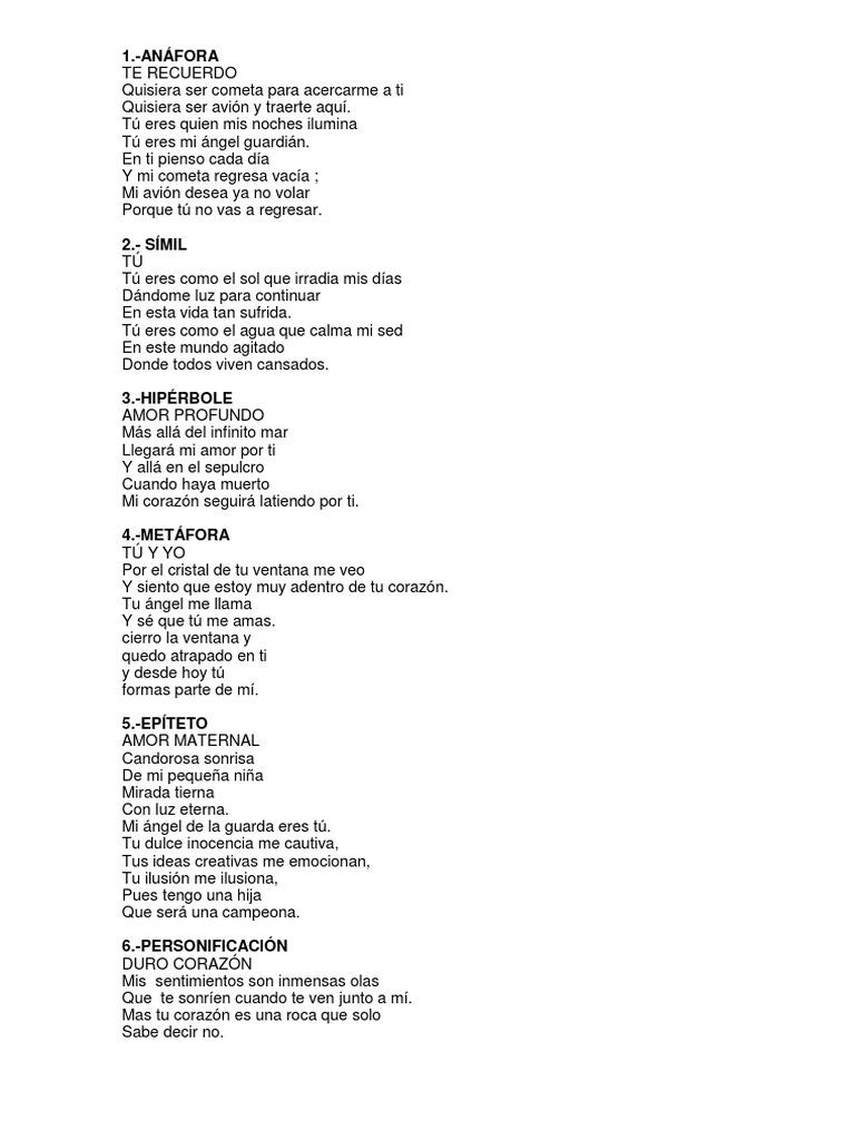 Poemas Con Figuras Literarias
