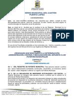 Ordenanza Rentas Patentes Municipales