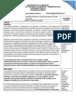 Ficha 1 Importancia Del Marco Conceptual