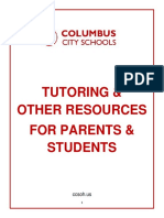 tutoring  resources for parents and students  2019-20