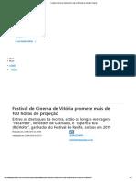 Festival de Cinema de Vitória Promete Mais de 100 Horas de Projeção _ a Gazeta