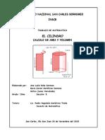 El Cilindro Area Volumen