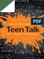 08 Teen Talk the Language of Adolescents Cambridge University