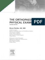 The Orthopaedic Clinical Examination - Reider