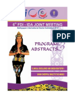 6th FDI-IDA Joint Meeting 2010 Program & Abstracts