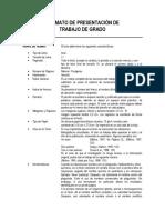 Formato de Presentación de Trabajo de Grado