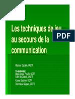 techniques du jeu en communication
