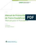 Manual promoción escalafones