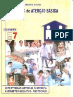 Caderno nº. 07 - Protocolo de Diabetes e Hipertensão;.pdf