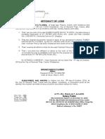 Affidavit of Loss -  St. Peter  (FLORES).docx
