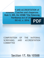 Guidelines on Screening and Accreditation 2019