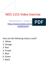 mcs 1151 video exercise 1 - logo colour