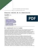 Historia Natural de La Urbanizacion