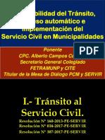 Tránsito, Ingreso Automático e Implementación del Servicio Civil 2018 - Miraflores - Lima.pptx