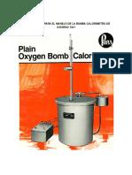 Instrucciones Para El Manejo de La Bomba Calorímetro de Oxígeno 1341