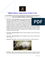 Military History Anniversaries 1016 Thru 103119