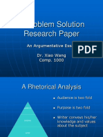 A Research-Oriented Problem Solution Essay-1