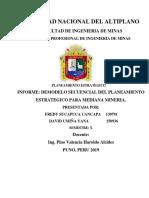 Trabajo Final de Modelo Secuencial de planeamiento estratégico para  mineria