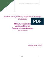 Manual de Auxiliar Gestor App Android v 2.0