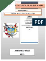 MONOGRAFIA PRINCIPALES PUERTOS DEL PERU