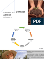 SUJETOS DEL DERECHO AGRARIO