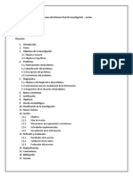 Esquema Del Informe Final de Investigación