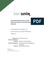Memoria de Trabajo y Su Correlación Con El Aprendizaje de Idiomas