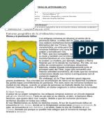 Fichas Historia 3° Unidad 3 Roma