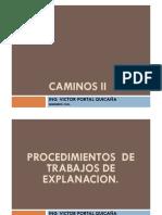 PROCESO DE TRABAJOS DE EXPLANACION DEL AFIRMADO