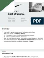 Nike, Inc.- Cost of Capital