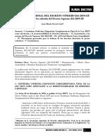 Revista Iuris Dictio - i - Octubre 2019 - Comentarios Al Decreto Supremo 261-2019-Ef - Autor José María Pacori Cari