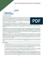 Pasado, Presente y Futuro de Las Reformas Educativas en Argentina (1966-2006)