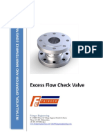 Excess Flow Check Valve