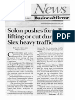 Business Mirror, Oct. 15, 2019, Solon pushes for toll lifting or cut during Slex heavy traffic.pdf