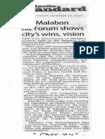 Manila Standard, Oct. 15, 2019, 4th Malabon Biz Forum shows city's wins, vision.pdf