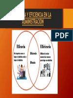 Eficacia y Eficiencia en La Administración